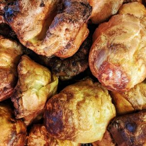 a big pile of delicious Yorkshire puddings